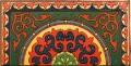 Роспись крышки деревянного квадратного сто- лика (половина). Акмолинский район.