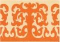 Орнаментальный мотив кошмового футляра (покрышки) для деревянного сундука. Аул Кулюк, Баян- Аульский район.