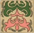 Орнаментальный мотив росписи по дереву. Аул № 28, Баян-Аульский район.