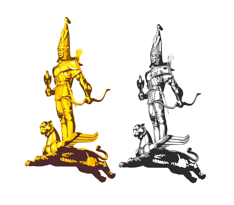 Золотой человек рисунок 3