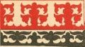 Орнаментальный мотив кошмового футляра (покрышки) для деревянного сундука. Аул Балкескен, БаянАульский район.