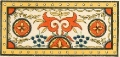 Роспись крышки деревянного сундука. Аул Мусин-Айжмучи, Баян-Аульский район.