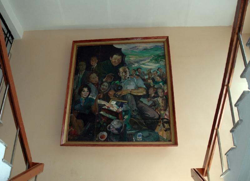 Картина с знаменитыми казахфильмовцами