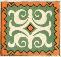 Орнаментальный мотив росписи по дереву. Аул Джарты, Баян-Аульский район.