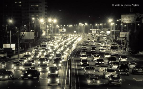 Ночной проспект Аль-Фараби